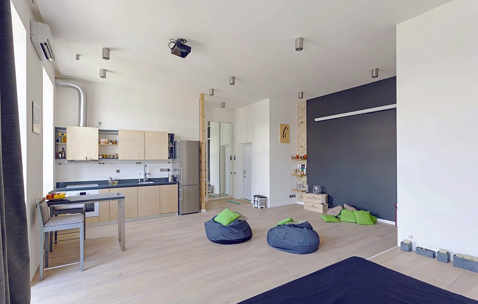Unusual Layout Defining a 58 Sqm Open Studio Apartment in ...