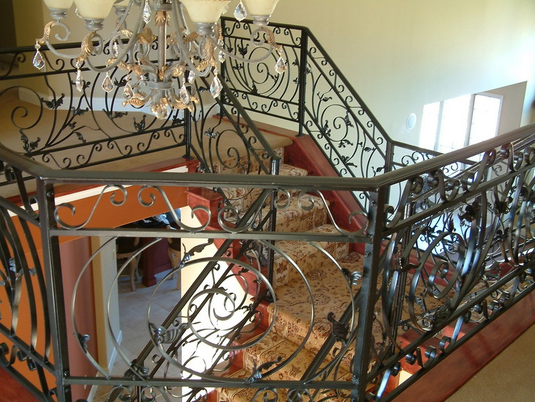 Metal interiors wrought iron staircase