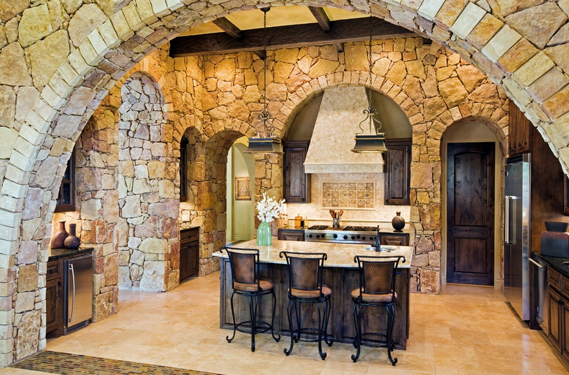 natural home elements stone kitchen