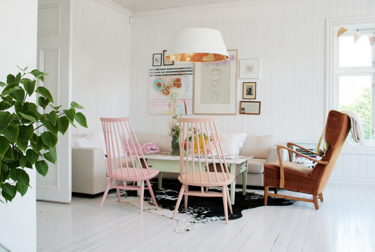 Pastel interiors scandanavian furniture