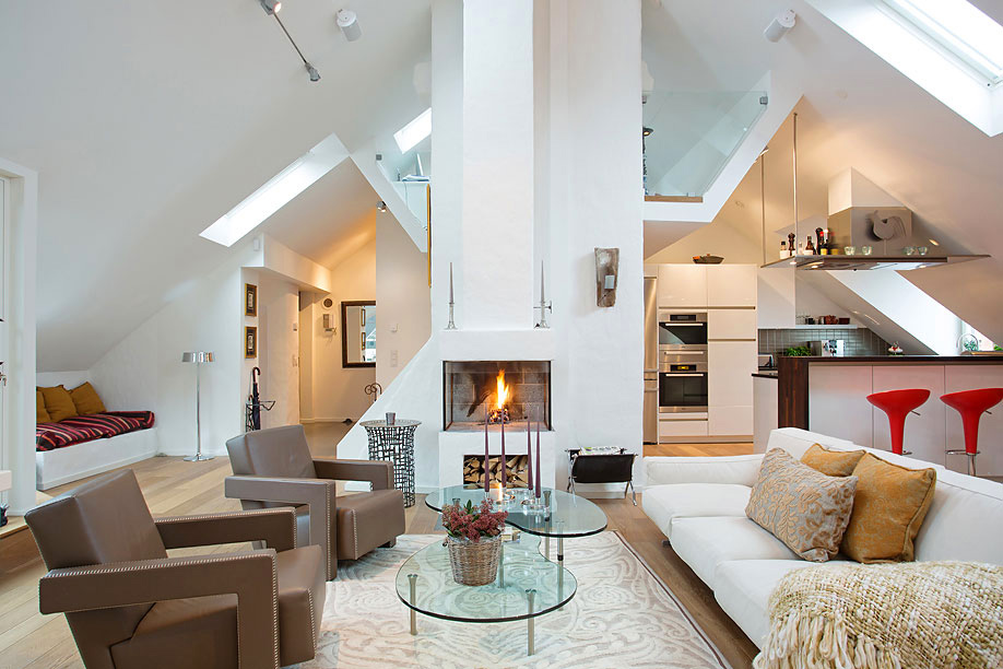 The 25 Million Tastefully Decorated Swedish Loft Exuding Coziness