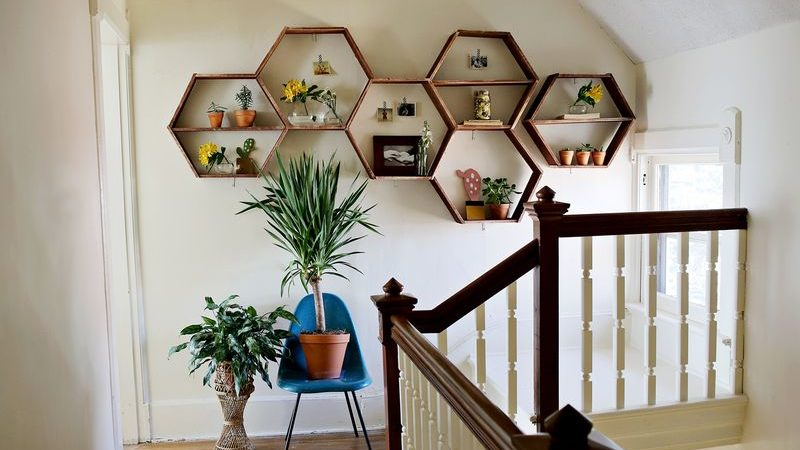 A DIY Project That Makes You Smile: The Honeycomb Shelves