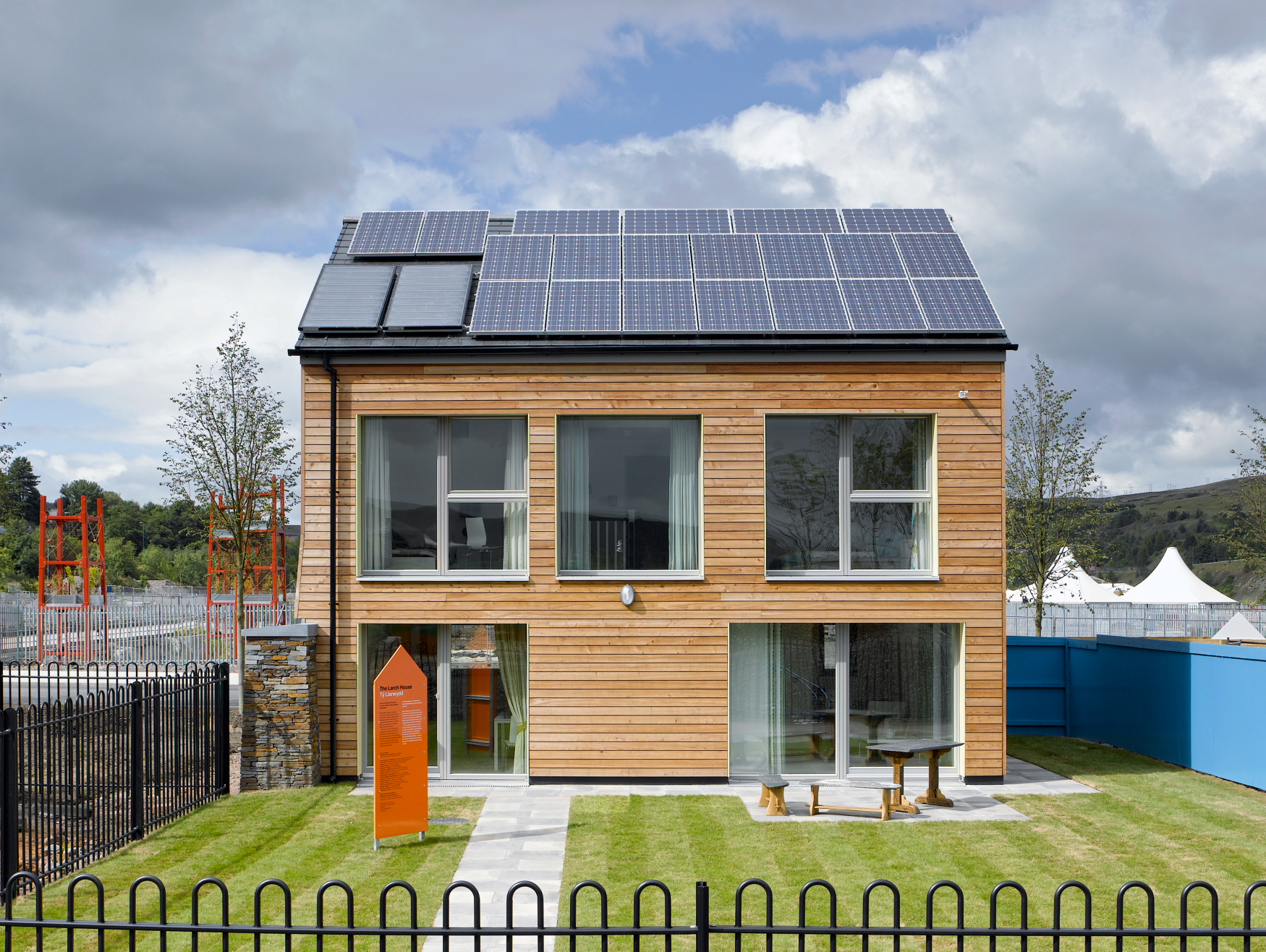 Welsh Passivhaus Solar Panels