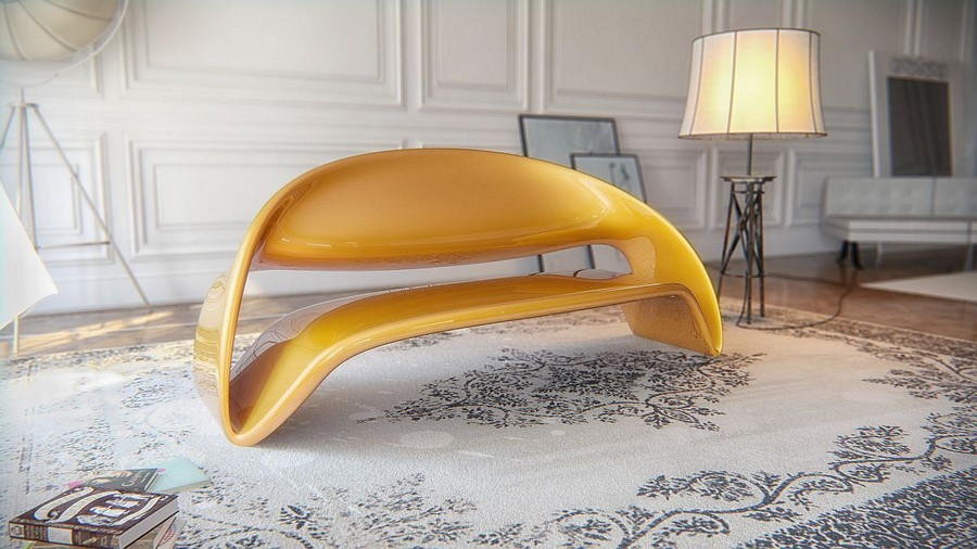 Continuous Lines Delivering An Elegant Seating Unit Lyubkka By - Futuristic-minimalist-furniture-from-boxetti