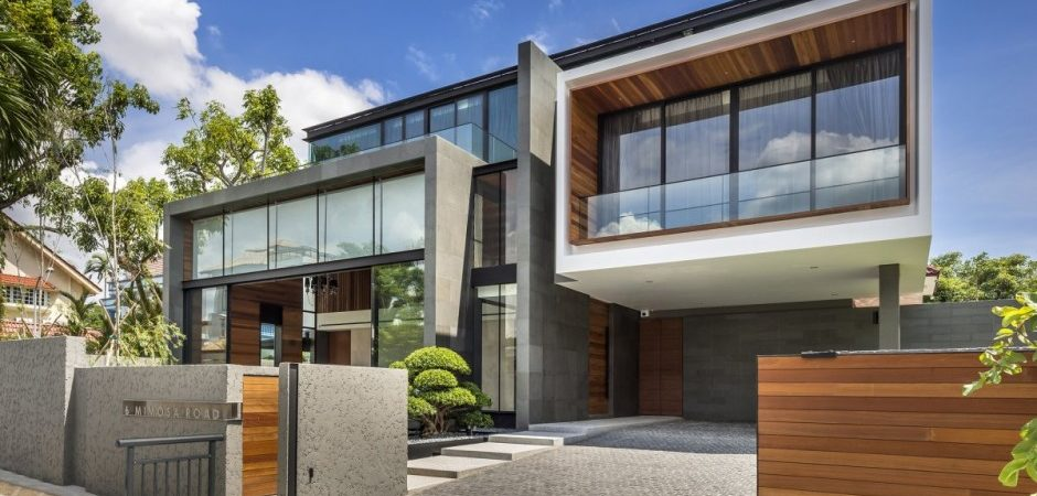Contemporary Home Evoking a Warm Rustic Feel: Mimosa Road in Singapore