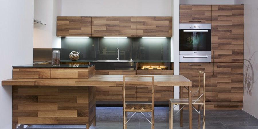 Beautiful Kitchen Design in Wood With Daring Glass Additions by Mateja Cukala