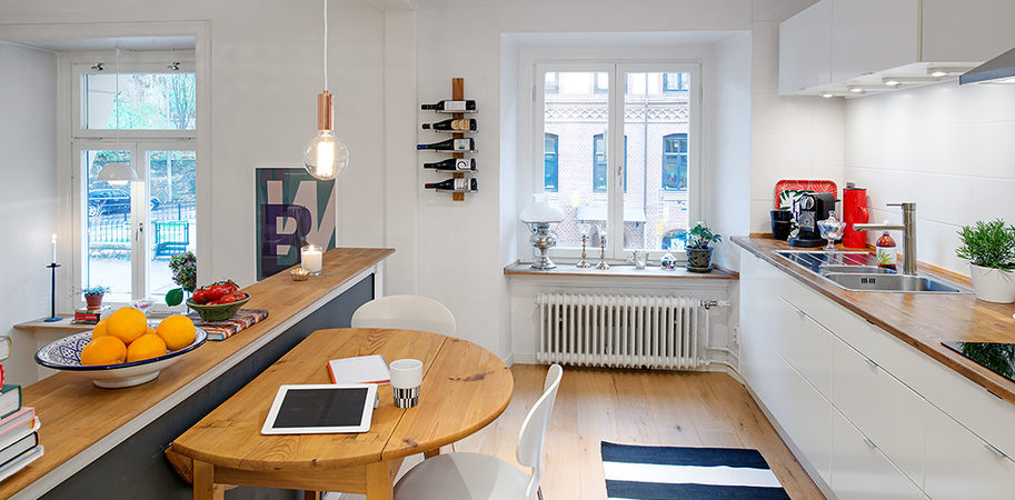 Charming Swedish Apartment Exhibiting an Original Floor Plan