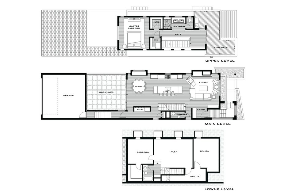 Contemporary Three-Level Home Showcasing Creative Design Features in on blueprint house plans, building house plans, good house plans, architect house plans, small modern prefab floor plans, frame house plans, design house plans, urban house plans, glass and steel house plans, small two bedroom house plans, treehugger house plans, architectural record house plans, houzz house plans, big house plans, art house plans, architectural digest house plans, modern house plans, circular house plans, lake house plans, house house plans,