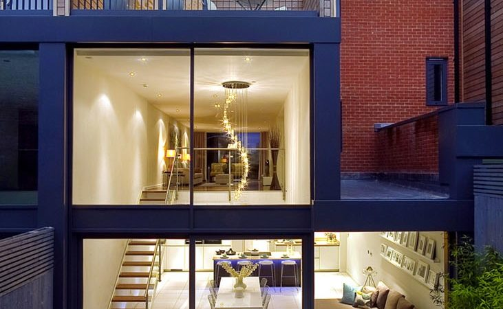 Exquisite House in London With Double Volume Space by LLI Design