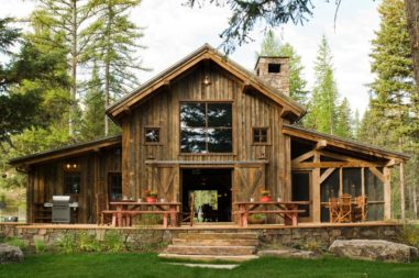 rustic barn conversion outdoors