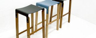 Refined and Contemporary Composite Stool by Artisan Andrew Cassels