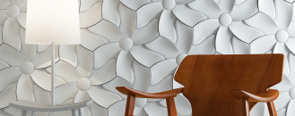 Soft and Organic Design: Textural Concrete Tiles with Flowery Motifs