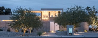 Strong Geometry Shaping the Exterior of Birds Nest Residence in Arizona