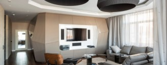 Futuristic Approach to Contemporary Moscow Apartment by Geometrix Design