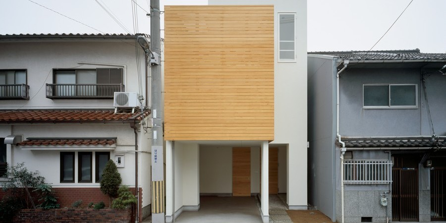 Minimalist Japanese Residence Making the Most of a Narrow Site: House F