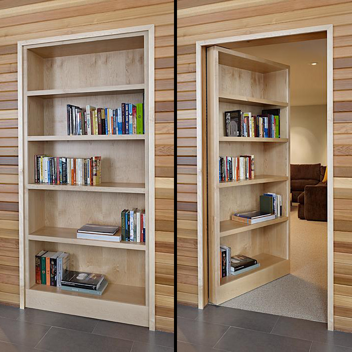 How to Elegantly Stage Your Secret Room: Bookcase Door by DeForest Architects