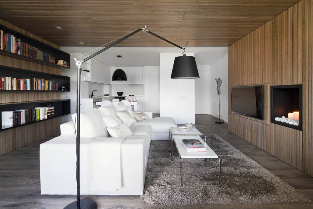 Charming Modern Apartment Designed For Two Book Lovers In Barcelona - Modern-apartment-design
