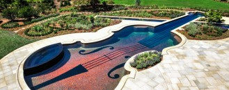 Dazzling Swimming Pool Replica of an 18th Century Stradivarius Violin