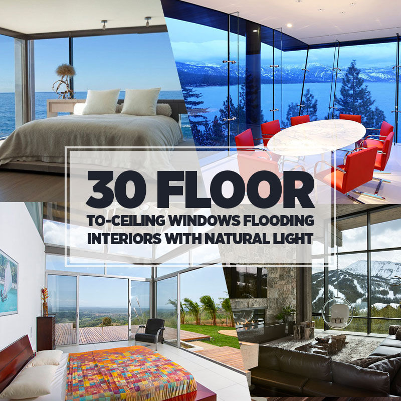 30 Floor-to-Ceiling Windows Flooding Interiors with Natural Light