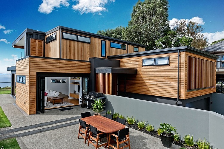A Modern Two-Storey Dwelling Inspiring Calmness in New Zealand