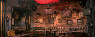 Steampunk Joben Bistro Pub Inspired by Jules Verne's Fictional Stories