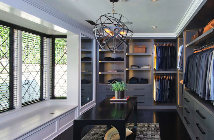 Walk-in Closet for Men - Masculine closet design (12)