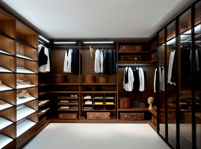 Walk-in Closet for Men - Masculine closet design (15)