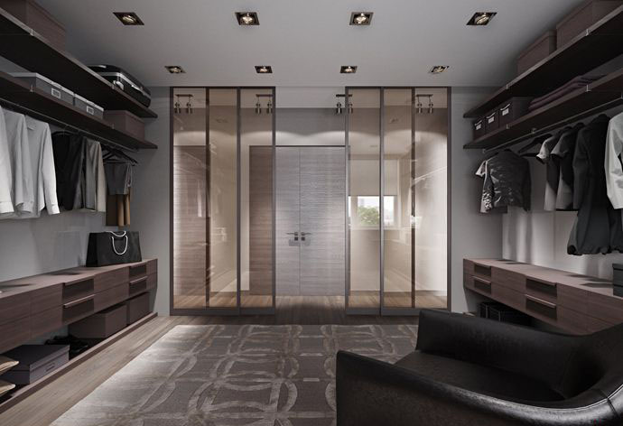 Walk-in Closet for Men - Masculine closet design (17)