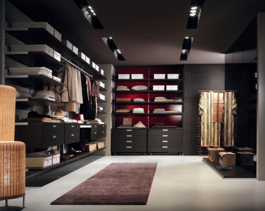 Walk-in Closet for Men - Masculine closet design (24)