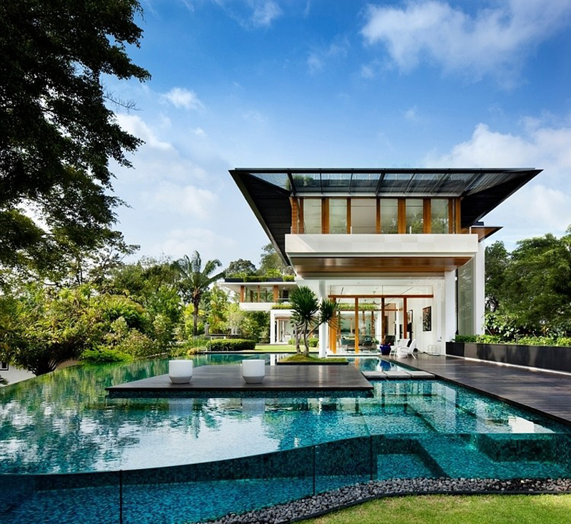 High End Home Design Ideas: Tropical Bungalow-Inspired Residence In Singapore By Guz