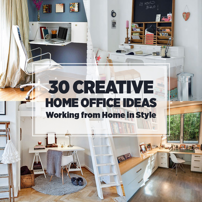 Perfect 30 Creative Home Office Ideas: Working From Home In Style