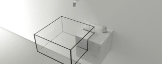 Minimalist Bathroom Sink With an Almost Surreal Appearance: Kub Basin