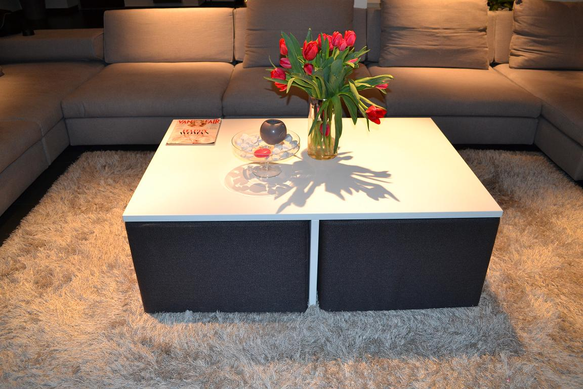 Simple Yet Clever Coffee Table Design With Integrated