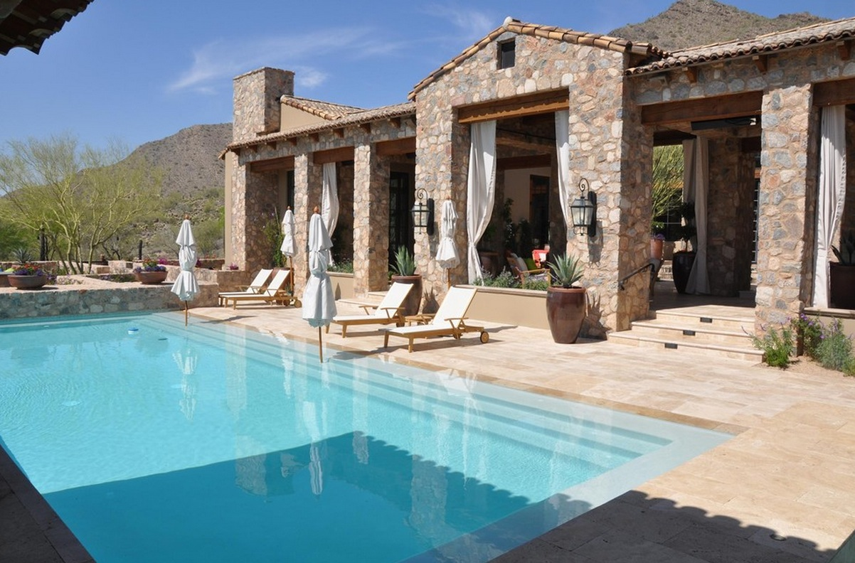 Collect this idea travertine exterior paver swimming pool