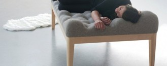 Highly Inviting Upholstered Daybed: Kulle by Stefanie Schissler