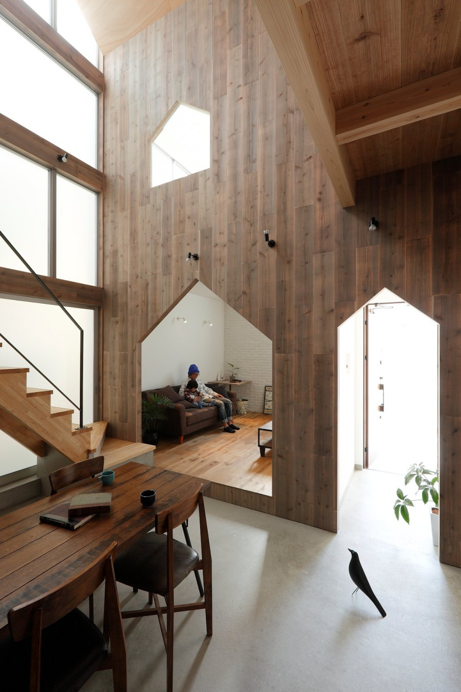 Original Interior Design Enhanced Gabled Forms Kyoto