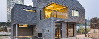Contemporary Basalt-Brick House Sustainably Built in South Korea
