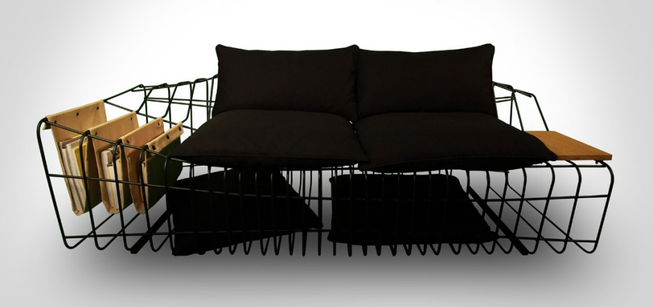 Minimalist Sofa with Industrial Twists: Sofist by Sule Koc Design