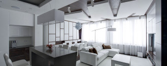 Dramatic All-White Renovated Apartment in Moscow by Vladimir Malashonok