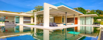 Breathtaking Natural Spectacle Offered by Modern Holiday Villa in Koh Samui