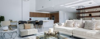 Luxurious Two-level Apartment in Miami Enhanced by Textural Diversity