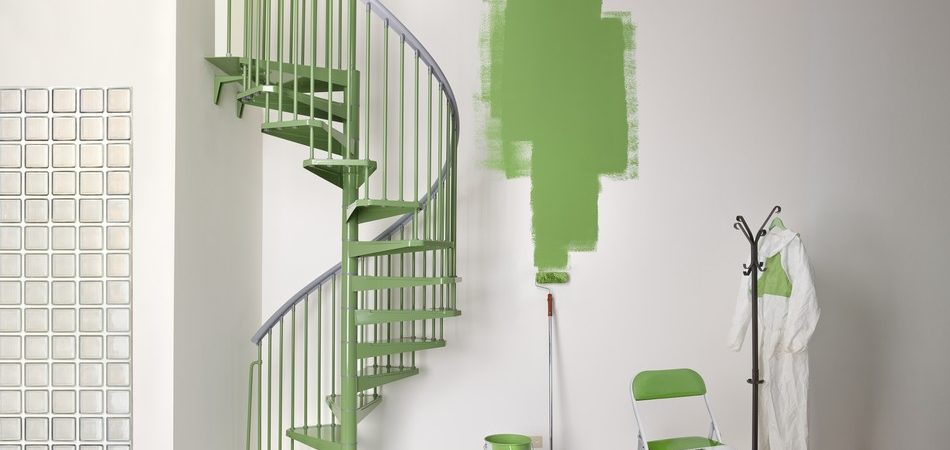 Colorful Spiral Staircase Boosting Indoor Energy : STEEL by Fontanot