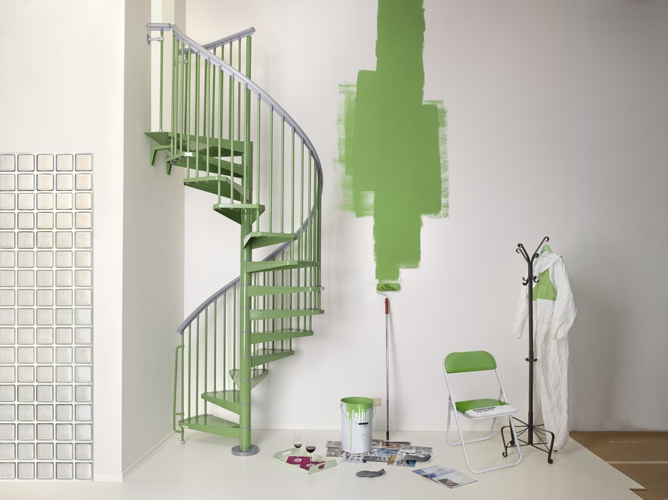 Colorful Spiral Staircase Boosting Indoor Energy : STEEL by