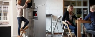 Elegant Furniture Piece with Two Functions: The Stepladder Chair [Video]