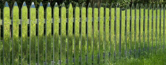 Mirror Fence Reflecting the Ever-Changing Landscape by Alyson Shotz