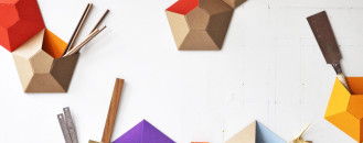 Textural Kaleidoscope as Storage: Wallpockets by Ampersand