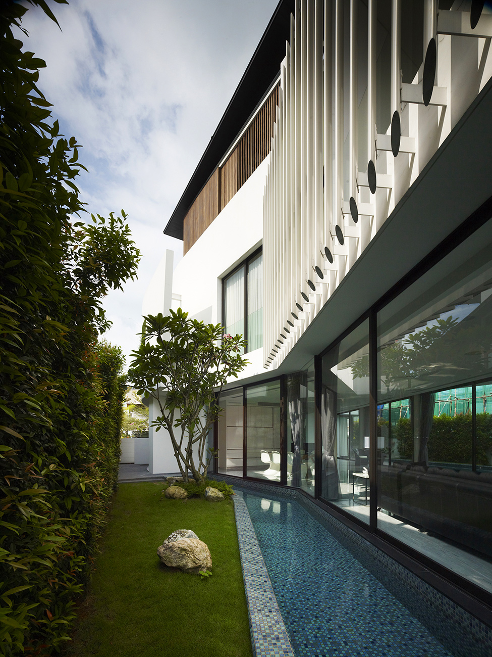 Luxury Mansion Singapore Appealing Monochromatic Interior