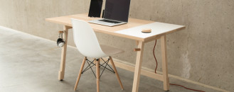 Modern Hardwood Desk to Ease Your Workflow by Artifox