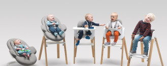 From Birth Through Childhood: Versatile Stokke Steps Baby Chairs