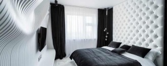 Straight Forward Bedroom Design in Black&White by Geometrix